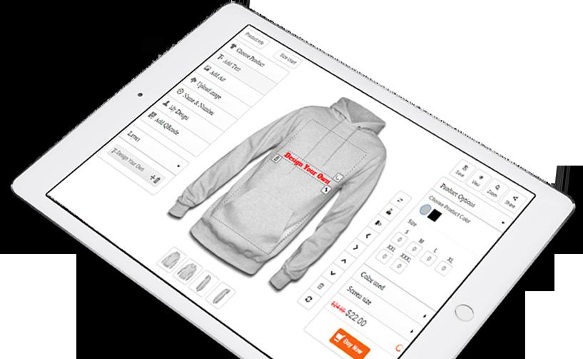 HTML5 product online designer